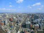 AERからみた仙台の街並み(東方向)
