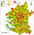大阪市町丁目別人口増加率(1995~2000年)