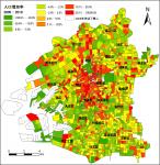 大阪市町丁目別人口増加率(2005~2010年)