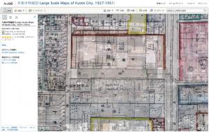 京都市明細図 on ArcGIS Online