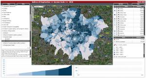 Ward単位のIncome Scaleの分布(2010年)